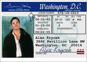 X files fakes for Washington dc fishing license